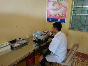 Urine - blood testing machine