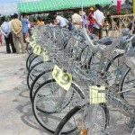 Bikes were given away to help the students get to and from school.